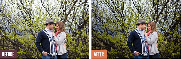 Before/After Lightroom IMage Processing - Couple