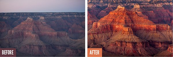 Lightroom Image Processing of Grand Canyon