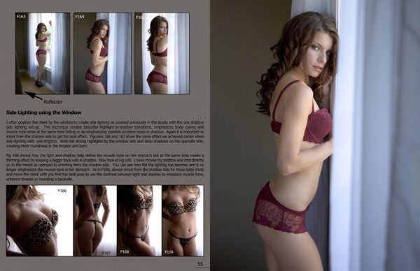 Photographing a Model using side lighting