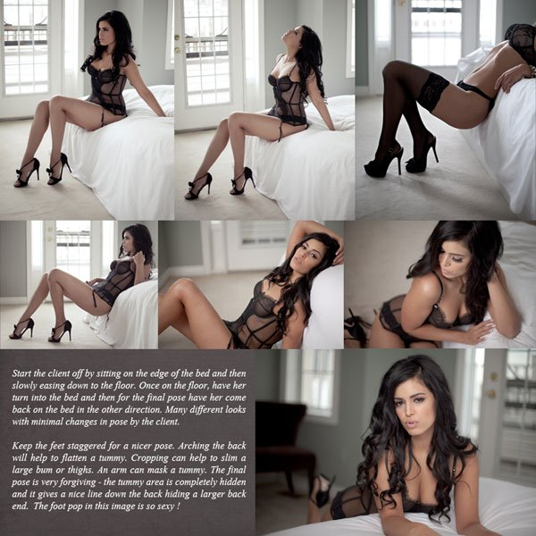 Woman Posing Boudoir Shot - multiple examples