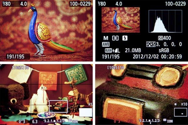 Canon 6D Image Playback with Histogram