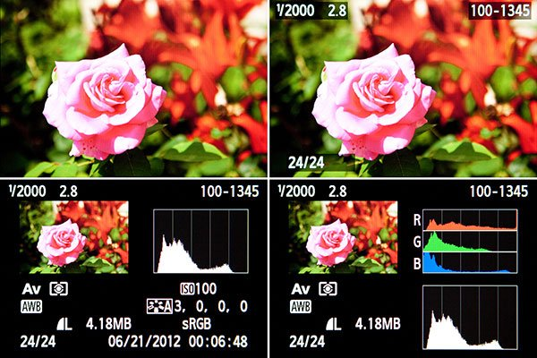 Canon T4i / 650D Histogram
