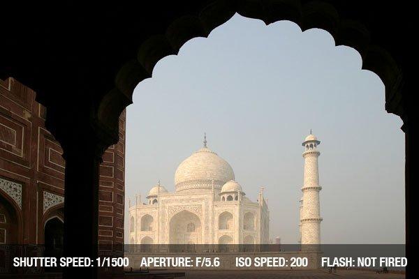 Composition tips-Unusual sight of Taj Mahal