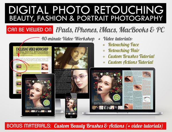 Digital Photo Retouching on iPad and MacBook