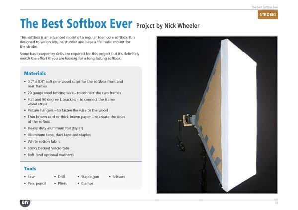 Homemade Softbox Tutorial eBook