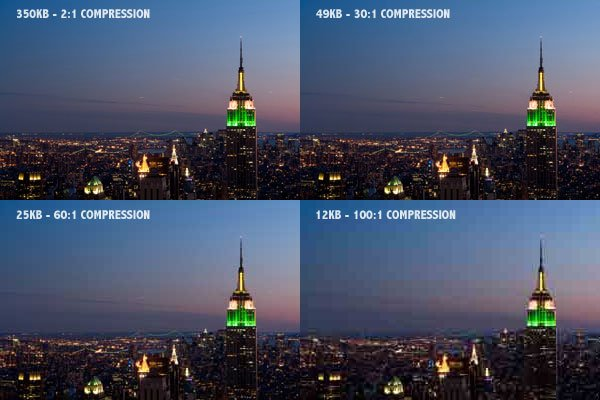 JPEG File Format Compression Ratios