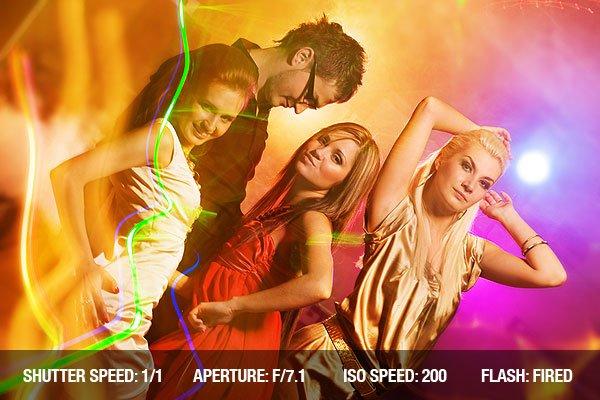 People dancing in the night club