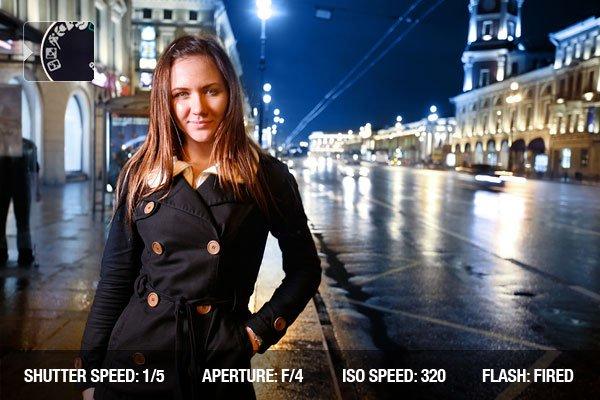 Night Portrait Camera Mode