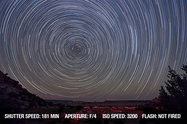 Star Trail image taken during the Okie-Tex Star Party in the Black Mesa area of Oklahoma