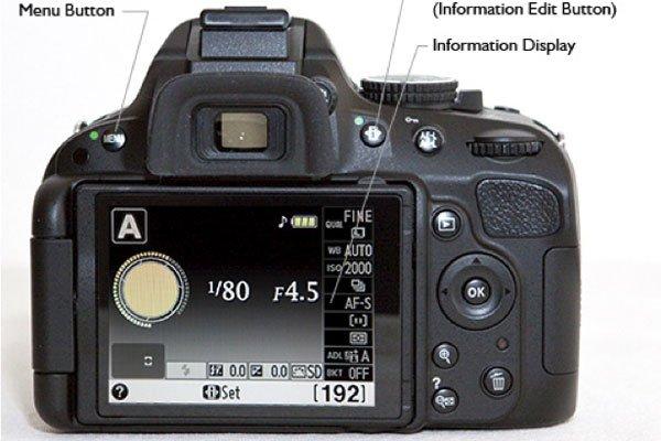 Nikon D5100 Camera backview