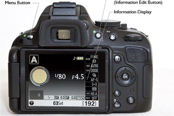 Nikon D5100 Camera backview