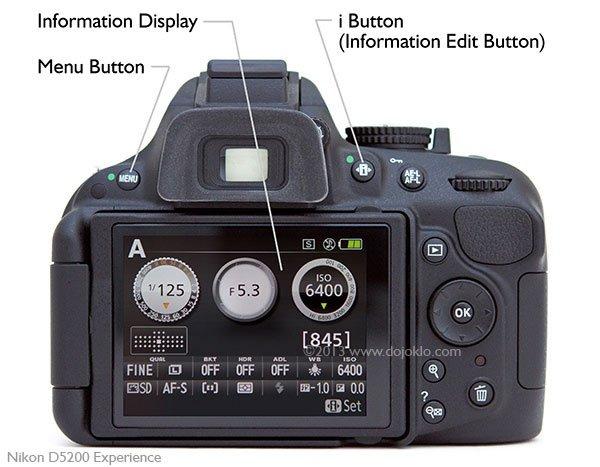 Nikon D5200 Camera backview