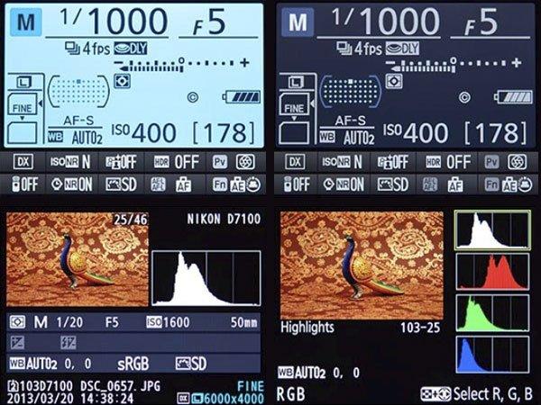 Nikon D7100 Menu