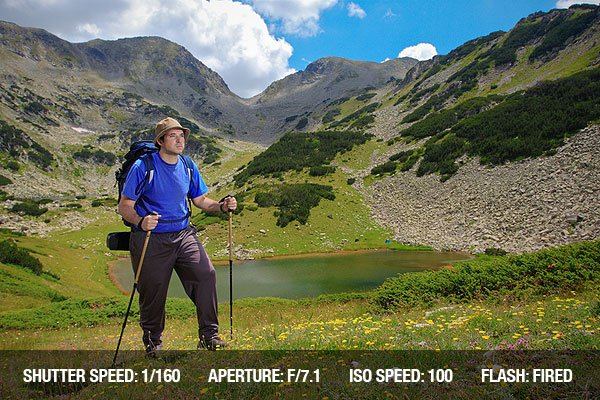 Outdoor Photography of a Hiker