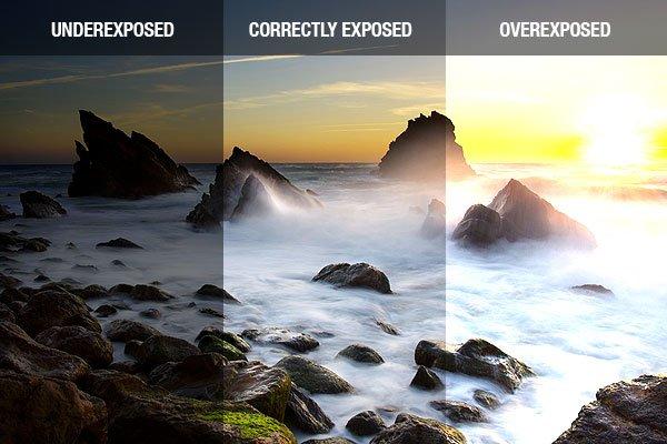 Exposure Comparison, Overexposure to Underexposure