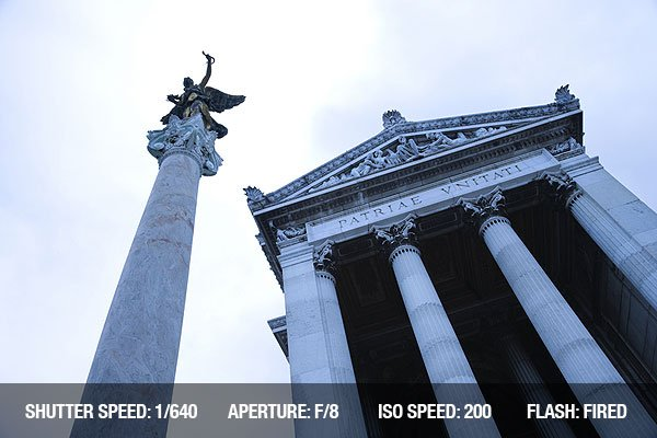 Architectural Photography - Building and Statue in Rome, Italy