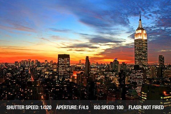 Cityscape photograph of New York City