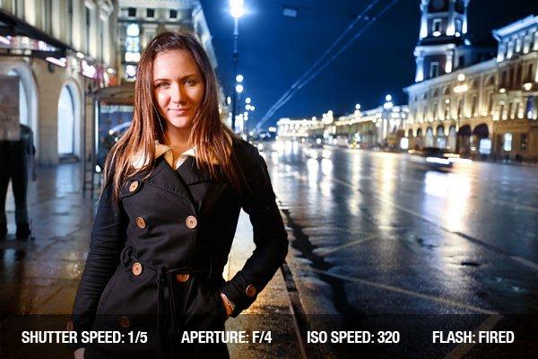 Cityscape portrait at night