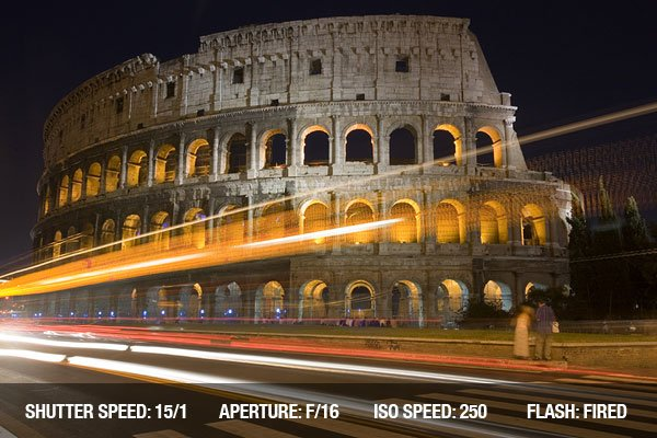 The Colosseum in Rome at night