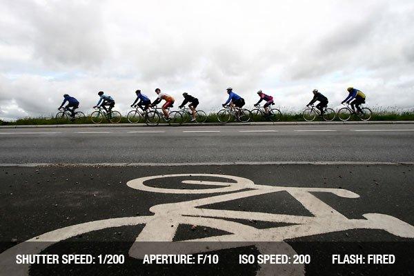 A cycling race in Denmark