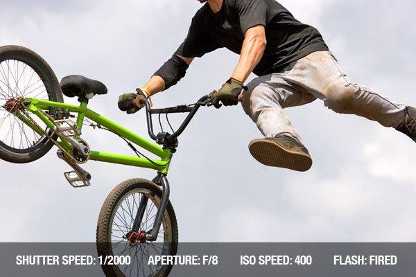 Extreme BMX biker