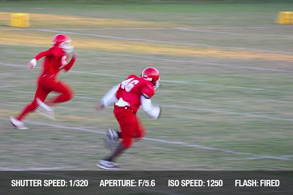 Football game motion blur