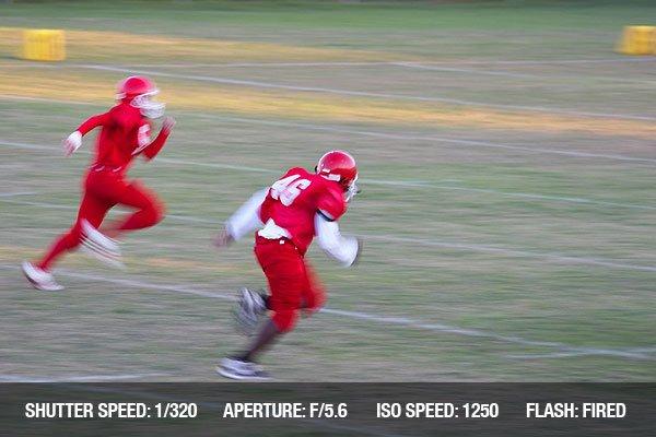 Football game motion blur