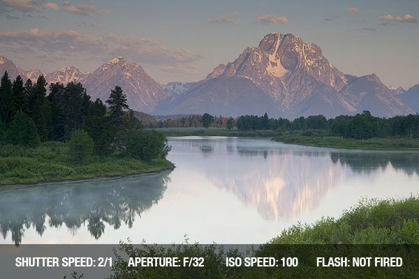 Landscape photograph of Mount Moran