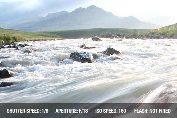Landscape photograph of the Tugela River in South Africa