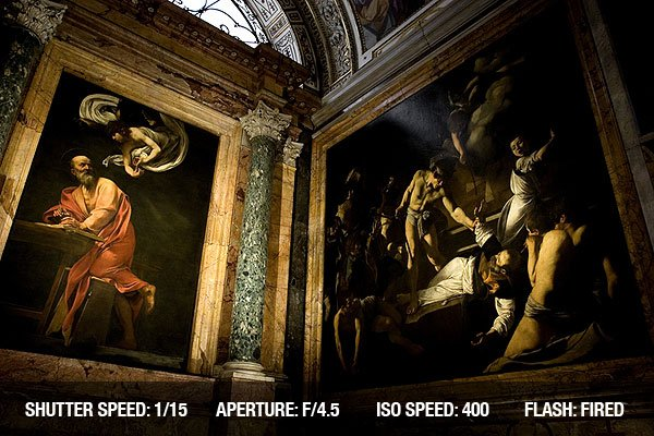 The cycle of paintings in the Contarelli Chapel at San Luigi dei Francesi church in Rome