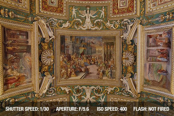 Vatican Museums - Ceiling in the Gallery of Maps