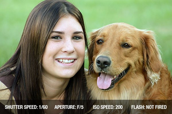 Girl smiling with golden retriever
