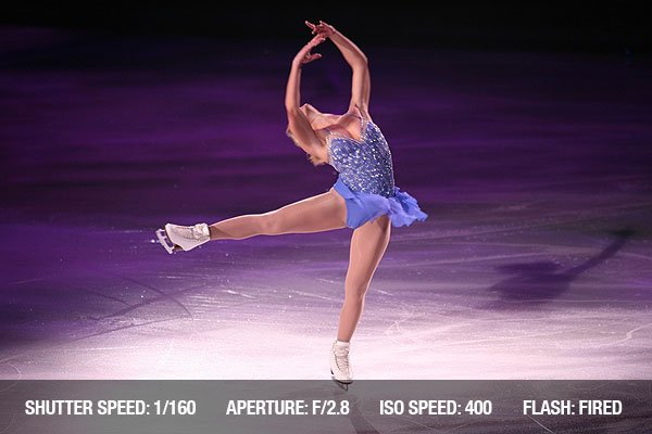 Professional woman figure skater