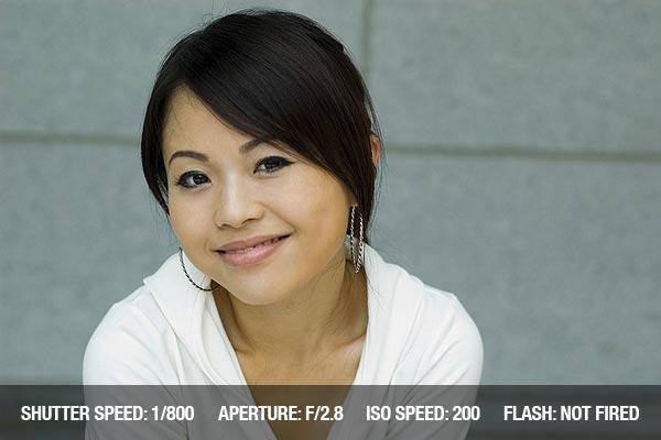 Attractive Asian Girl outdoor portrait