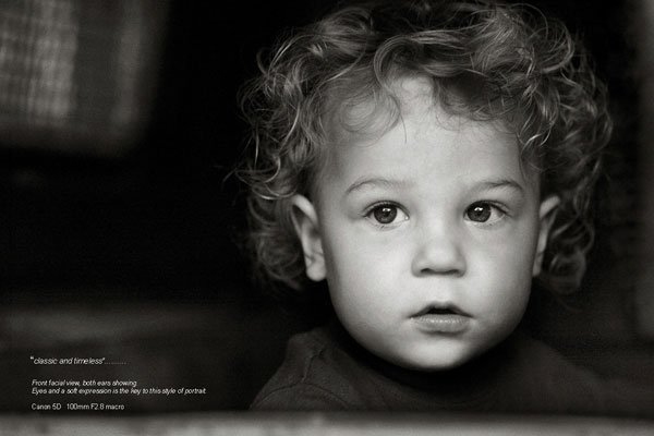 Child Photography Ebook - Front Facial View