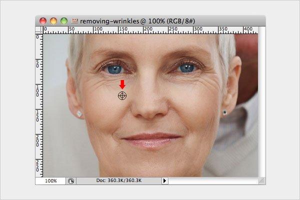 Removing Wrinkles Step 1
