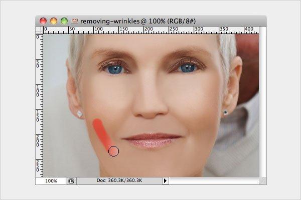 Removing Wrinkles Step 2