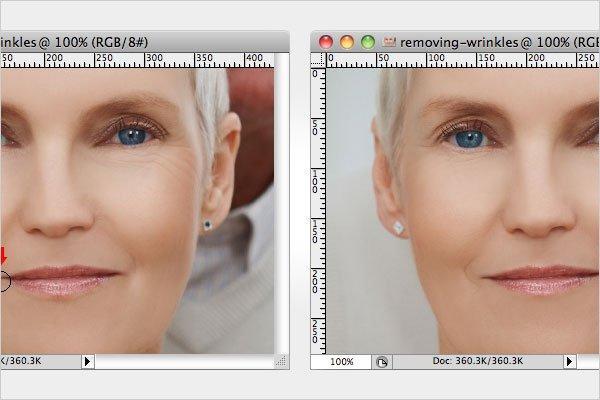 Removing Wrinkles Step 4