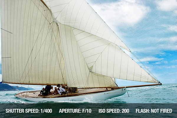 Sailing Photography - Old sailing boat in the Vele d'Epoca CUP, Imperia, Italy