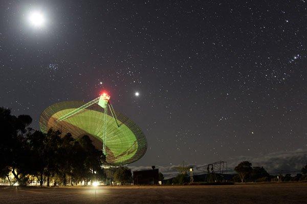 Radio Telescope Night Sky