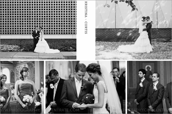 Black and White Wedding Pictures from an eBook