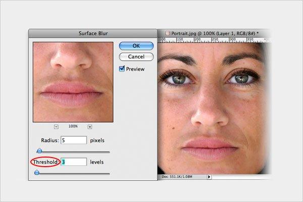 Skin Retouching Step 3