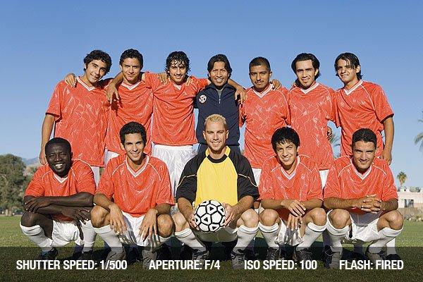 Soccer team posing for photo, portrait