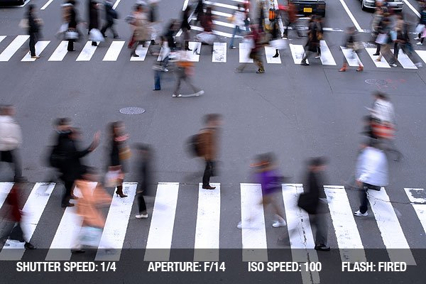 People crossing the street in a big city