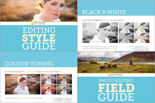 Sample Pages from Super Photo Editing Skill Video Tutorial