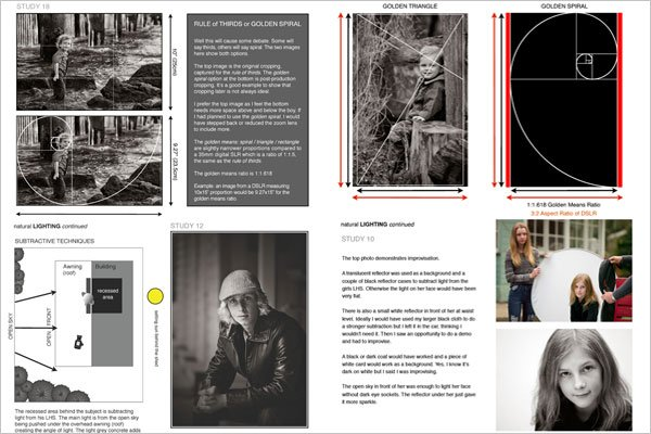 Timeless Portrait Photography Ebook Charts and Diagrams