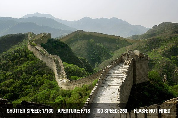 A section of The Great Wall of China, in Badaling.