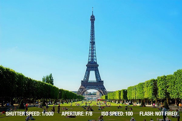 Travel Photography Tip 4 - Eiffel tower - beautiful day in France