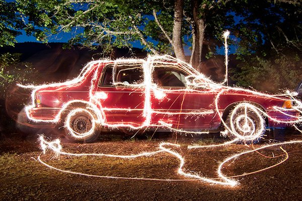 Trick Photography Light Painting