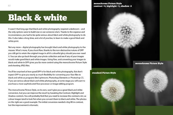 eBook about Canon's Digital Photo Professional software